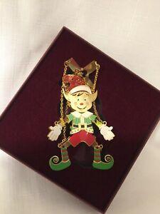 Baldwin Ornament Marionette Beautiful Very Nice Christmas Elf Puppet