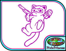 Retro Gamer Cat Kitty Nintendo A Vinyl Sticker Car Console Window Wall Decal