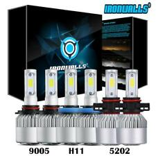 Combo 9005 H11 5202 LED Headlight Fog Lights for GMC Sierra 1500 2500 3500 07-13