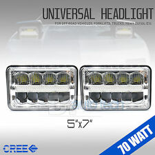 "5""x7"" 140W CREE LED Headlights Sealed Beam Clear High/Low Beam DRL High Power"