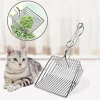 Cat Litter Scoop Metal Waste Scooper Poop Pet Sand Shovel Cleaning Tools jkl