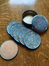 New listing John Henry Dearle Daffodil Pattern Coaster Set (6) Tin