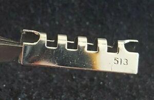 Omega Steel Shiny-Brush Finish End Piece Number 513