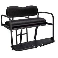 Gusto™ Club Car DS Golf Cart Flip Folding Rear Back Seat Kit - Black