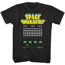 Space Invaders Alien Battle Arcade Game Men's T Shirt Hi-Score Vintage Atari Top
