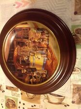 Bradford Exchange Bygone Days Saturday Matinee Collectors Plate With Wood Plate