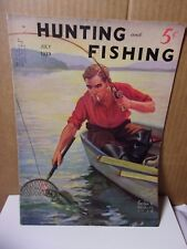 1939 Vintage Hunting and Fishing Magazine July      T*