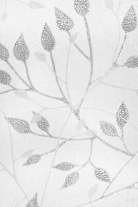 Leaves & Branches 2'x3' Etched Glass Privacy Static Cling Window Film White