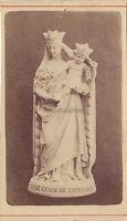 Notre Dame Da Grace Da Honfleur CDV Vintage Albumina Ca 1880