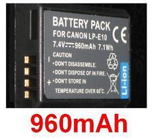 Batterie 960mAh type LP-E10 LPE10 Pour Canon EOS 1100D