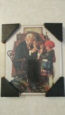 Norman Rockwell 8 x 10 Vintage Wood Picture w/Child Picture Hanger Included Nice