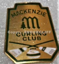MACKENZIE CURLING CLUB BRITISH COLUMBIA CANADA BADGE NEAR Mint