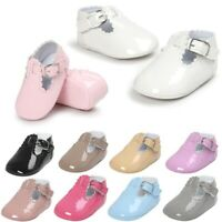 0-18 M Newborn Baby Boy Girl Pre-Walker White Soft Sole Pram Shoes Trainers