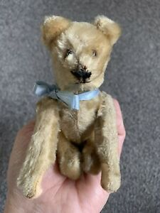 ANTIQUE MOHAIR  SCHUCO Wind Up TUMBLING BEAR ALL Intact Worn NR