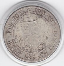 1898    Older  (Veiled)  Head  Half  Crown  (2/6d) -  92.5%  Silver  Coin