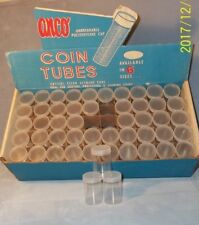 NEW--Anco Round Coin Tubes for Large Dollars-100 per Box