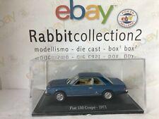 """DIE CAST """" FIAT 130 COUPE' - 1971 """" + TECA RIGIDA BOX 2 SCALA 1/43"""