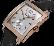 New Mens Elysee 69008 Herakles Rose Tone Black Leather Strap Watch