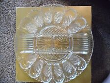 Vintage Egg Plate Relish Plate in Clear by Smith Glass