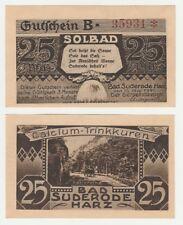 Germany 25 Pfennig 1921 Notgeld Bad Suderode UNC Uncirculated Banknote - B