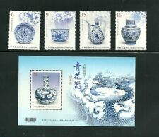 TAIWAN 2018 BLUE & WHITE PORCELAIN - ANTIGUE IN POSTAGE STAMPS, S/S MNH