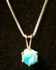 Hemimorphite in Sterling  Silver Pendant.  Gorgeous color! SITE  CLOSING SALE