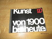 """Kunst Buch bzw. Katalog """" Kunst von 1900 bis heute """"  Original von 1962  /S35"""