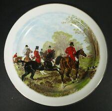 "Royal Crownford Wood & Sons Fox Hunt Deep Plate 8 7/8"" Staffordshire England"