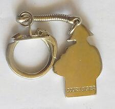 Courvcisier  Cognac France  Vintage Metal Keychain Porte-clés Portachiavi Ring