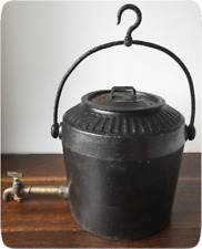Antique Hanging Kettle - Cast Iron 3 Gallon - Gypsy Traveller - T HOLCROFT Wpton