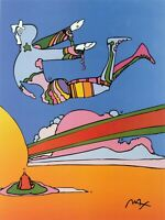 PETER MAX POSTER- COSMIC FLYER COLORFUL APROX SIZE 18X24-CT#55