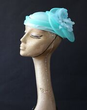 Vintage pillbox hat,Ascot, burlesque,wedding, races,church, mother of the bride