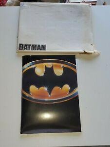 1989 Tim Burton Batman Warner Bros Press Kit Nicholson Keaton 23 Photos!