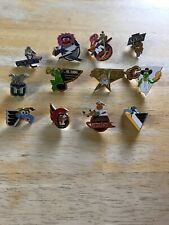 NHL Lot Of 12 Muppet Hockey Pins Logo Animal Kermit Gonzo Miss Piggy