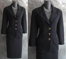 BEAUTIFUL St John collection jacket black knit suit blazer size 8