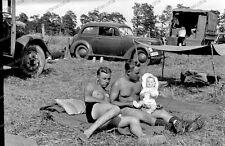 Vintage-Photo-negativ-Cute Boys-Boy-Soldier-Doll-sd.kfz-Puppe-Wehrmacht-nude