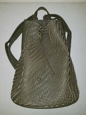 Deux Lux Woven Bucket Backpack Purse Handbag Olive NEW WITH TAGS