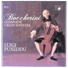 LUIGI PUXEDDU - Luigi Boccherini - Complete Cello Sonatas - Box set of 4 CDs