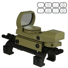 Dark Earth Red and Green Reflex Sight 4 Reticles With GSG5 522 Claw Reddot Mount
