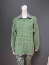 45rpm 100 % cotton cardigan NEW with TAG   grey & green vichy size : 4