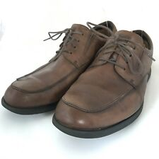 Clarks Plus Mens Size 10W General Pace Brown Leather Lace Up Oxfords Shoes 63513