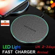 15W Fast Qi Wireless Charger Charging Pad Mat For iPhone 11 XS 8 Samsung S20 S10