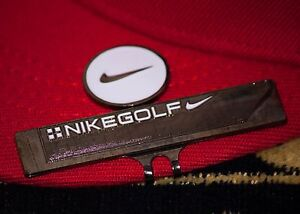 Nike Logo White Ball Marker with Nike Hat Clip