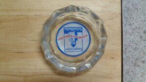 Vintage German HAIGERLOCH SCHLOSSBRAU Glass Ashtray 7 inch diameter
