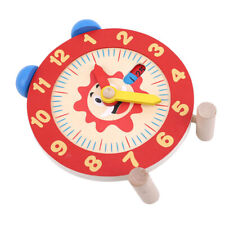 Baby Learning Clock - Wooden Parent Interactive Teaching Learn Time Clock Toy N7