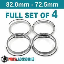 82.0 - 72.5 Anillos Espita Anillos Hub conjunto completo Ruedas de Aluminio BMW Anillos Bbs