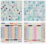 "Creative Imaginations & SEI Cardstock Stickers 12x12"" Sheet Multi List ALPHABETS"