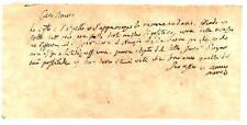 Lettera Autografo Membro Consiglio Stato Napoli Tito Manzi Richiesta Votazione