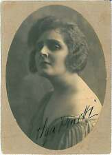 CARTOLINA d'Epoca AUTOGRAFO: OLGA BENETTI - Attrice cinema muto 1916