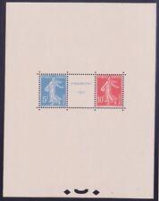 "FRANCE BLOC FEUILLET 2 "" EXPOSITION STRASBOURG 1927 "" NEUF xx LUXE VALEUR: 3500€"